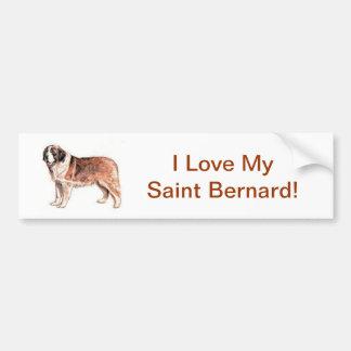 St Bernard Autocollant De Voiture