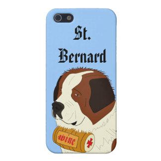 St Bernard avec un petit baril de vin - schéma iPhone 5 Case