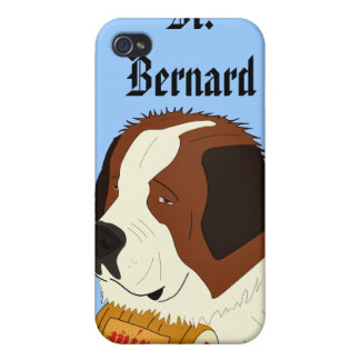St Bernard avec un petit baril de vin - schéma Coques iPhone 4/4S