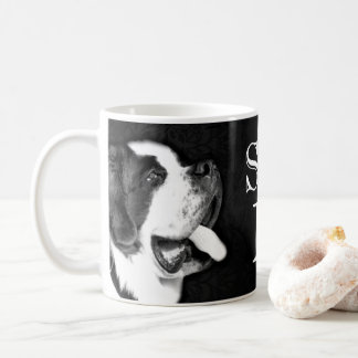 ST. BERNARD BW PHOTO WHITE COFFEE MUG