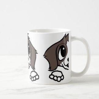 st bernard cartoon peeking coffee mug