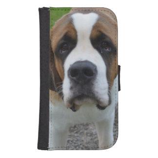 St Bernard curieux Coque Avec Portefeuille Pour Galaxy S4