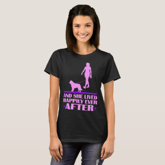 St Bernard Dog And She Lived Happily Ever After T-Shirt