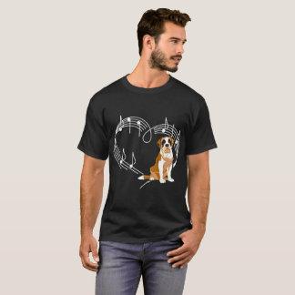St Bernard Dog Love Rhythm Heartbeats Tshirt