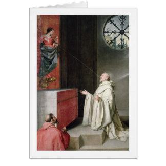 St Bernard et la Vierge Carte
