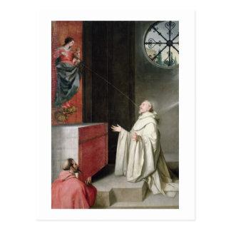 St Bernard et la Vierge Cartes Postales