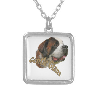 St. Bernard Gentle Giant Silver Plated Necklace