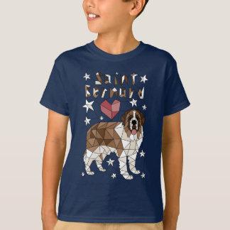 St Bernard géométrique T-shirt