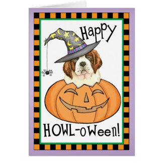 St. Bernard Halloween Card