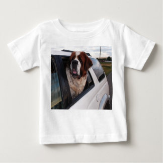 St. Bernard in car window. Baby T-Shirt