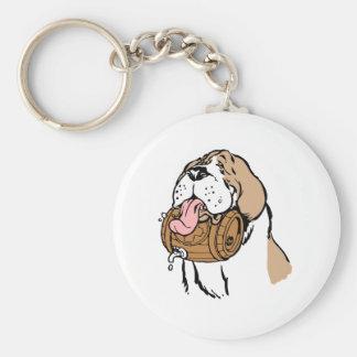 St. Bernard Keg Dog Keychain