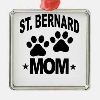ST BERNARD MOM.png Metal Ornament