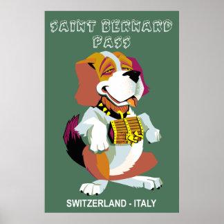 St. Bernard Pass travel poster