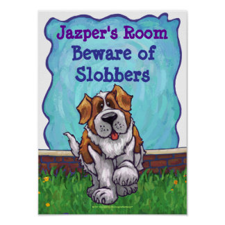 St. Bernard Personalized Room Poster