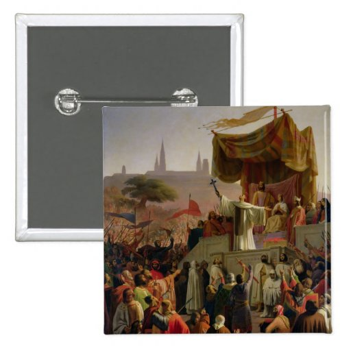 St Bernard prêchant la deuxième croisade Badges
