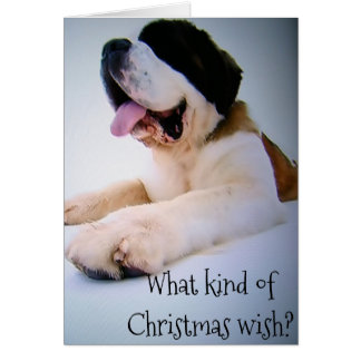 "ST. BERNARD SENDS ""HUGE"" CHRISTMAS WISHES CARD"