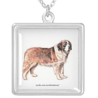 St. Bernard Silver Plated Necklace