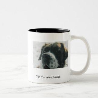 St Bernard Two-Tone Coffee Mug