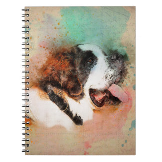 ST. BERNARD WATERCOLOUR PHOTO NOTEBOOK