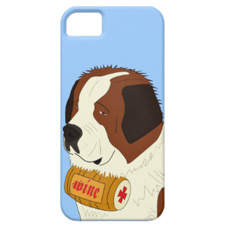 St. Bernard with a Small Wine Barrel - Line Art iPhone 5 Covers