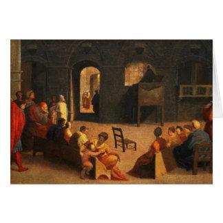St Bernardino of Siena Preaching Greeting Card