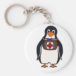 St Bernard's Penguin Keychain Basic Round Button Keychain