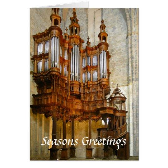 St Bertrand-de-Comminges organ Card