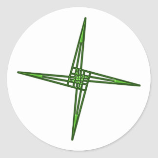 St. Brigids cross CROSS Ireland Irish country Eire Round Sticker