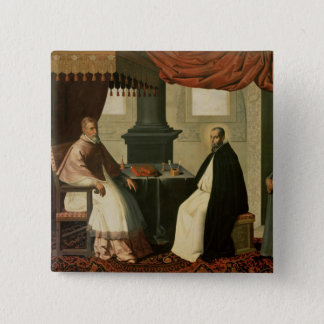 St. Bruno  and Pope Urban II  1630-35 2 Inch Square Button