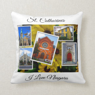 St. Catharines Downtown Photo Collage Throw Pillow