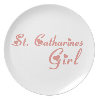 St. Catharines Girl Plate
