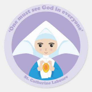 St. Catherine Laboure Classic Round Sticker
