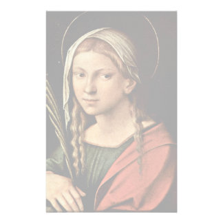 St. Catherine Of Alexandria By Correggio Stationery Paper