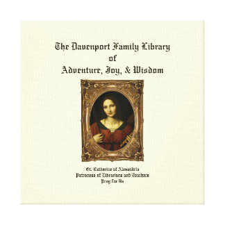 St. Catherine of Alexandria Library Canvas