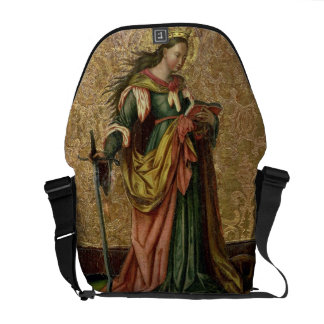 St. Catherine of Alexandria (oil on panel) 2 Commuter Bags