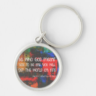 St. Catherine of Siena  Colorful Quote Keychain