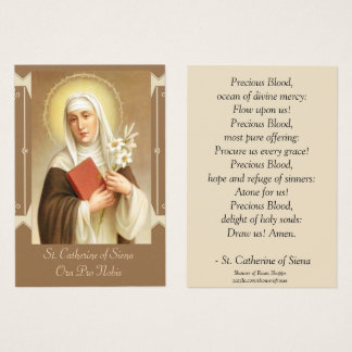 St. Catherine of Siena  Scripture Lilies Business Card