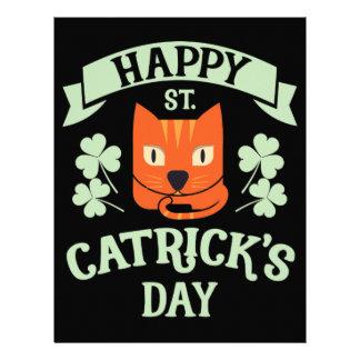 St Catrick's Day Cat St Patrick's Day Letterhead