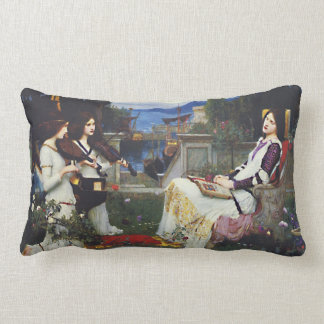 St. Cecilia and the Angels with Violins Lumbar Pillow