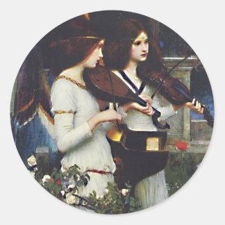 St Cecilia -  John William Waterhouse Round Sticker