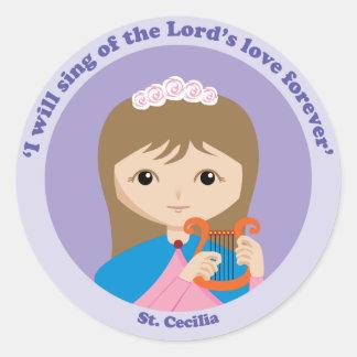 St. Cecilia Round Sticker