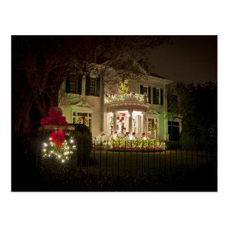 St Charles Avenue Holiday lights Postcard