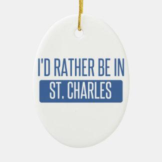 St. Charles Ceramic Ornament