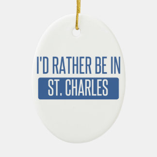 St. Charles Ceramic Oval Ornament