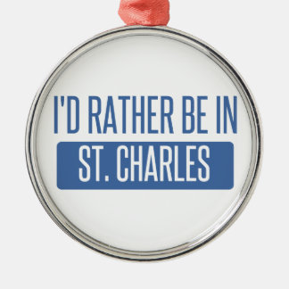 St. Charles Silver-Colored Round Ornament
