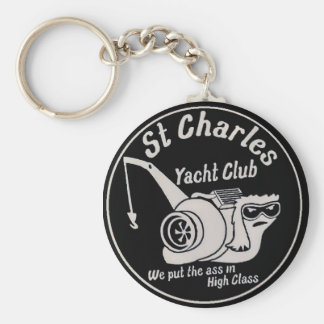 St. Charles Yacht Club Basic Round Button Keychain