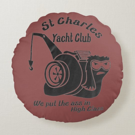 St. Charles Yacht Club Round Pillow