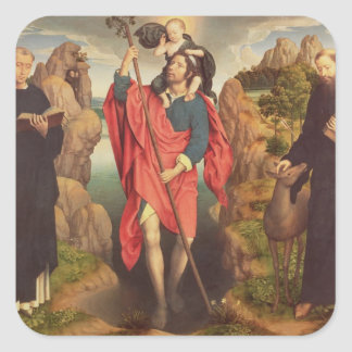St. Christopher , 1484 Square Sticker