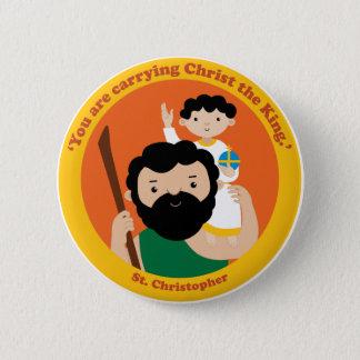 St. Christopher 2 Inch Round Button