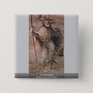 St. Christopher By Beccafumi Domenico 2 Inch Square Button